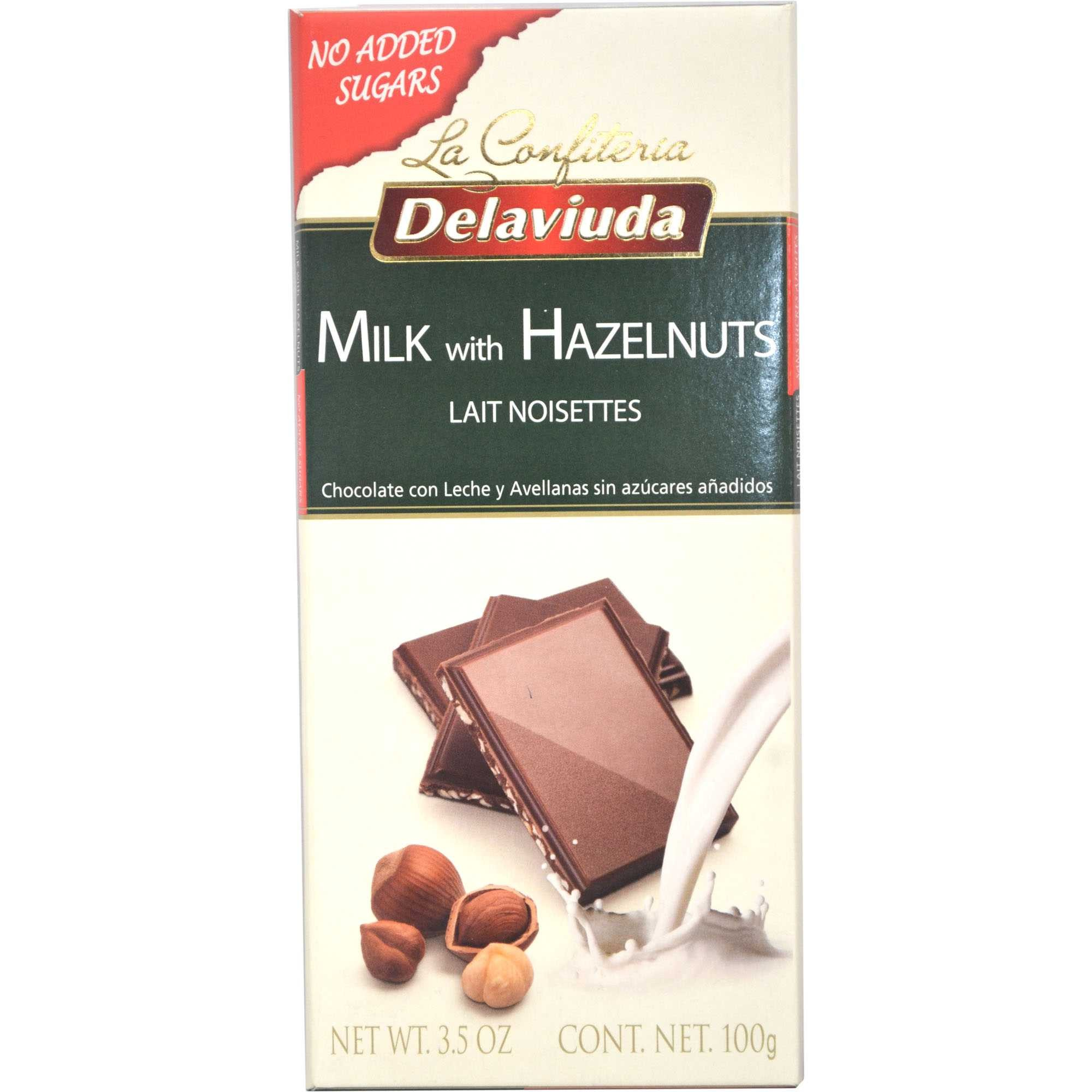 Delaviuda - Milk Chocolate With Hazelnuts 100 gm Pack