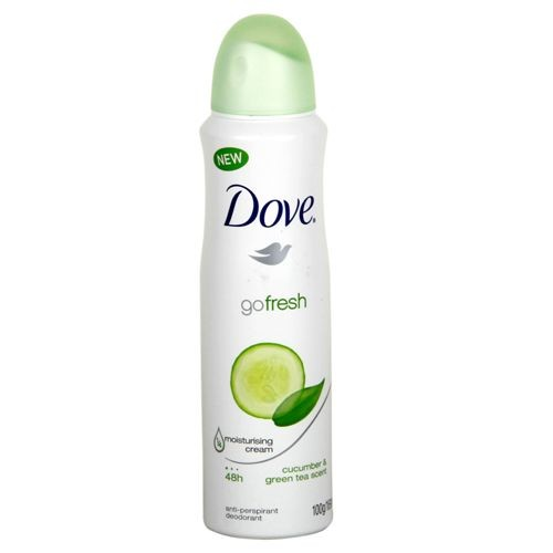 Dove Deodorant Body Spray - Cucumber & Green Tea 169 ml Packing