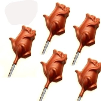 Ghasitaram - Chocolate Rose Shaped Lollipops