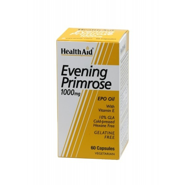 Health Aid Evening Primrose Oil - 1000mg (with Vitamin E)