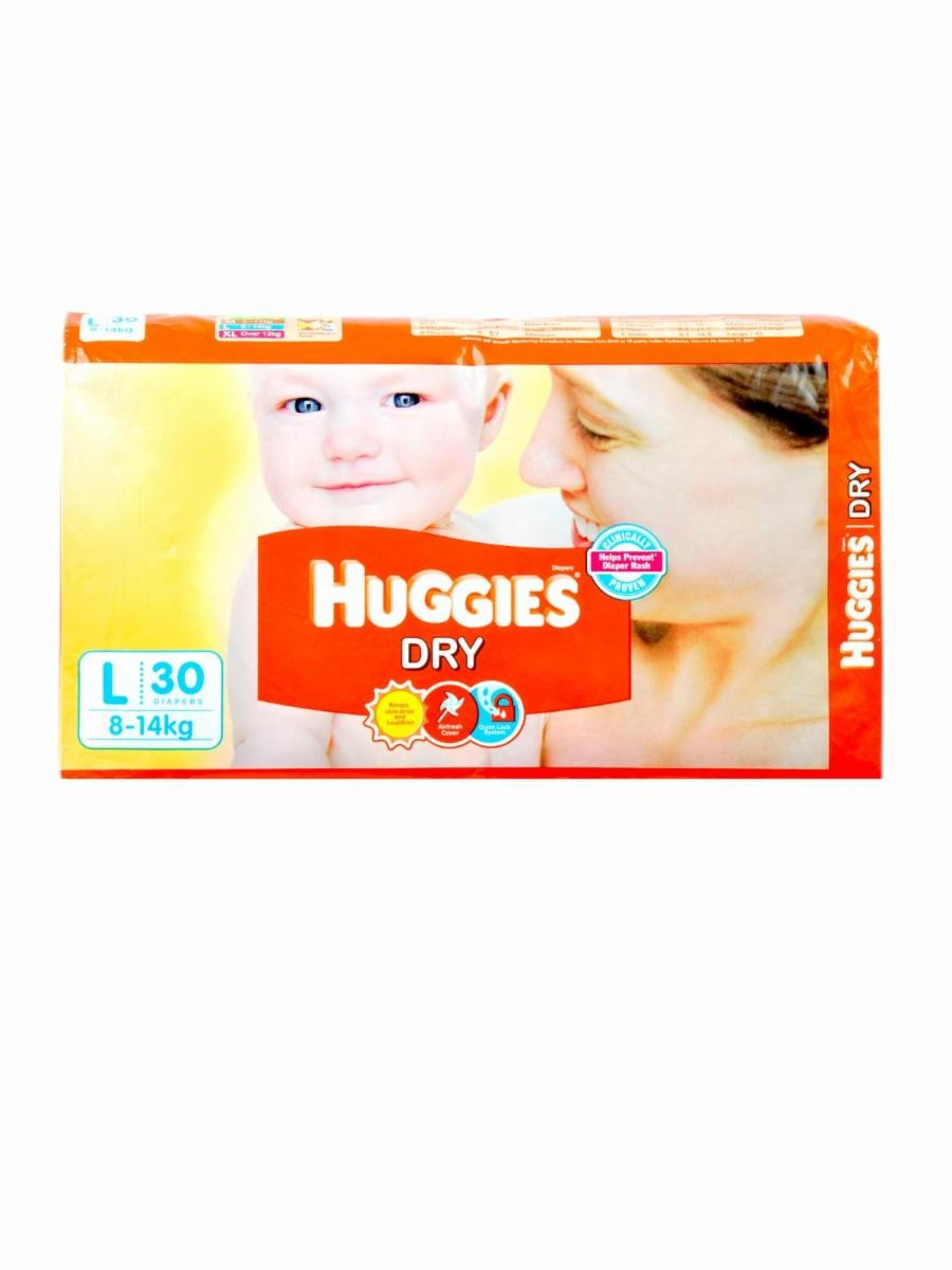 Huggies Diapers - Dry Large (8-14 kgs)
