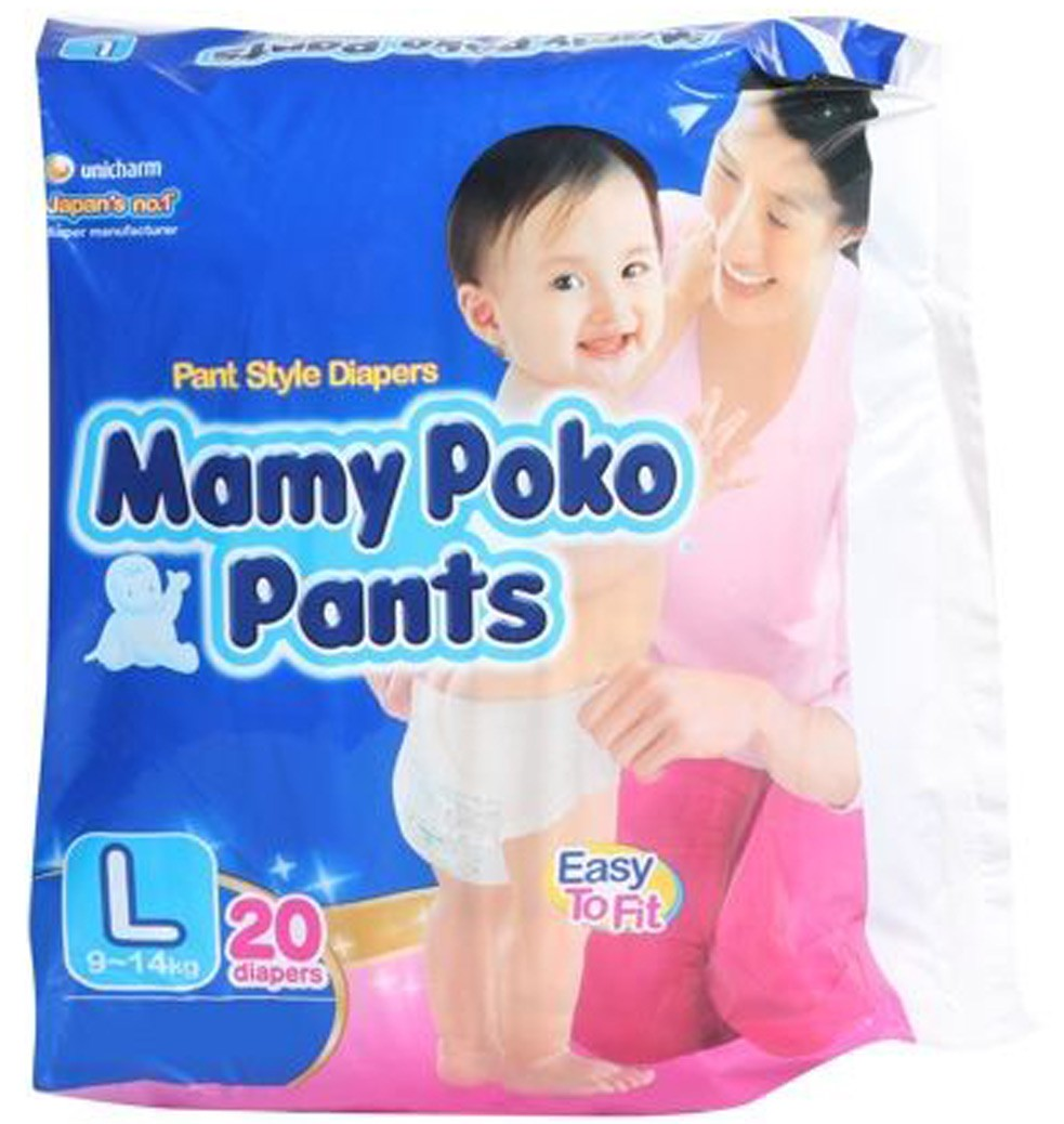 Mamy Poko Pant Style Diapers - Large (9-14 kg)
