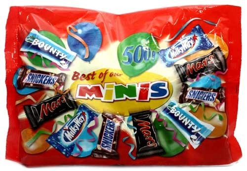 Mars Snickers Twix Bounty - Best of Minis 500 gm Pack