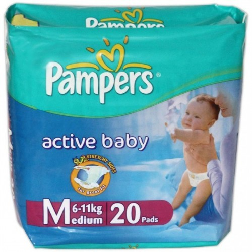 Pampers - Active Baby M (5- 11 Kg)