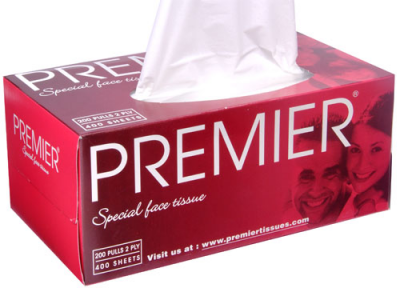 Premier - Facial Tissue Box 2 Ply