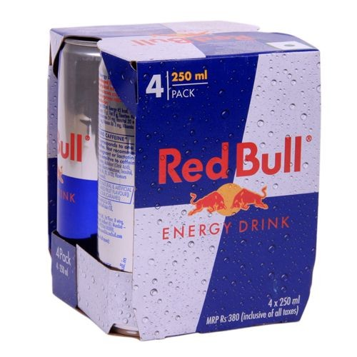 Red bull Energy Drink, 250 ml Carton ( Pack of 4 )