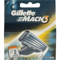 Gillette Mach 3 - Shaving Cartridges, 2 nos Carton