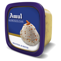 Amul Real Ice Cream - Roasted Almond