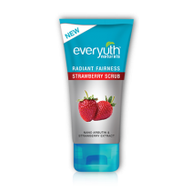 Everyuth Radiant Fairness Scrub - Strawberry 50 gm Pack