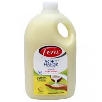 Fem Soft Handz Hand Wash - Lemon with Moisturing Coconut Oil