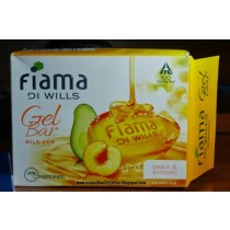 Fiama Di Wills Gel Bathing Bar - Peach & Avocado (3 X 125 gm Pack)