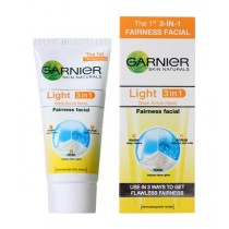Garnier Light - 3 in 1 Fairness Facial Wash, Scrub & Mask 50 ml Pack