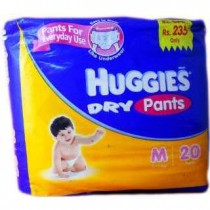 Huggies Dry Comfort Diapers - Medium (5-11 kgs)