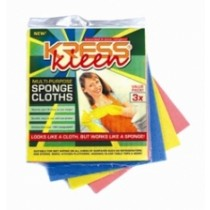 Kress Kleen - Multi Purpose Sponge Cloths 3 Pcs