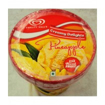 Kwality Walls Creamy Delights Ice Cream - Pineapple with Real Fruit