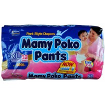 Mamy Poko Pant Style Diapers - XL (12-17 kg)