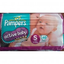 Pampers Active Baby Diapers - Small (3-8 kgs)