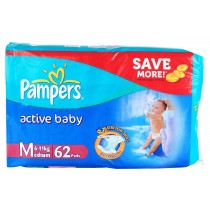 Pampers Active Baby Diapers - Medium (6-11 kgs)