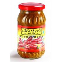Mothers Recipe Pickle - Red Stuffed Chilli 400 gm Pack