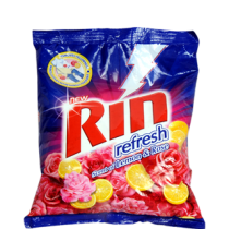 Rin Detergent Powder - Refresh Lemon & Rose 500 gm Pack