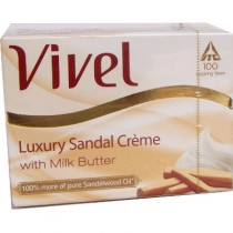 Vivel Bathing Soap - Luxury Sandal Creme (with Milk Butter) (3 X 75 gm pack)