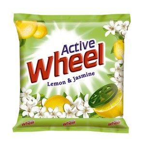Wheel - Lemon & Jasmine Detergent Powder (Green) 1 kg Pack