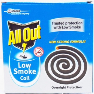 All Out Low Smoke Coil, 10 nos Carton