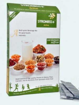 Strombss Diet Multi Grain Beverage Mix - Cardamom Saffron (for Diabetics & Weight Watchers) 600 gm Pack