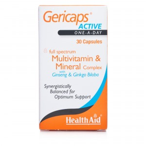 Health Aid Gericaps Active (with Ginseng & Ginkgo Biloba)