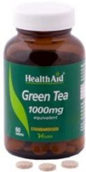 Health Aid Green Tea Extract - 1000mg (Equivalent)