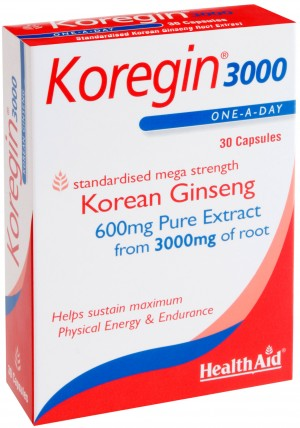 Health Aid Koregin - 3000 (Korean Ginseng 600mg)