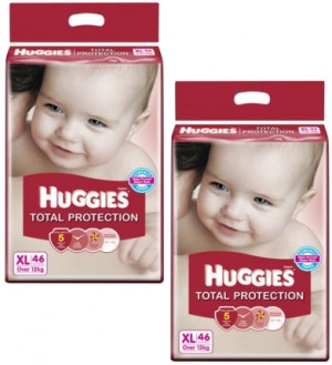 Huggies Total Protection Diapers - Xtra Large (over 12 kg)