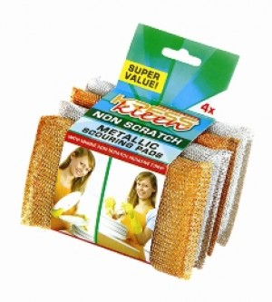 Kress Kleen - Metallic Iron Non-Scratch Scrub Pad 4 Pcs