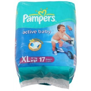 Pampers Active Baby Diapers - XL (12+ kgs)