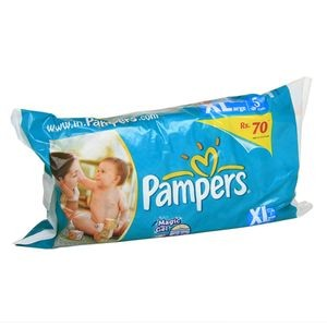 Pampers Disposable Diapers - XL (12+ kgs)