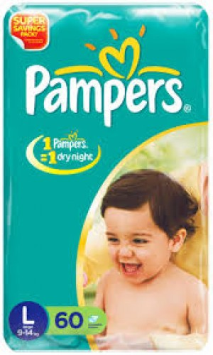 Pampers Disposable Diapers - Large (9 - 14 kgs)