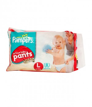 Pampers Active Baby Diapers - Large (9-14 kgs)